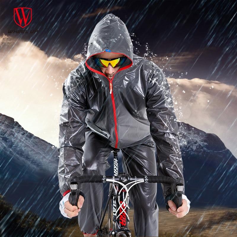 WHEEL UP Waterproof Windproof Cycling Jacket Rain Coat Men Road MTB Mountain Bike Raincoat Pants Rainwear Sets Cycling Equipment