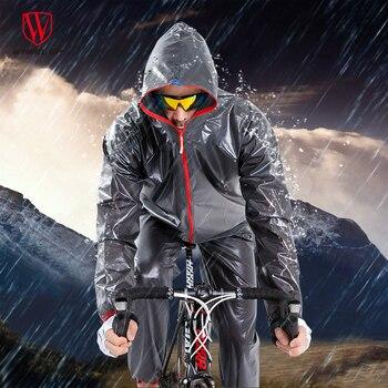 RUOTA SU Impermeabile Antivento Giacca Ciclismo Cappotto di Pioggia Degli Uomini di Strada MTB Mountain Bike Impermeabile Pantaloni Impermeabili Set di Attrezzature Ciclismo