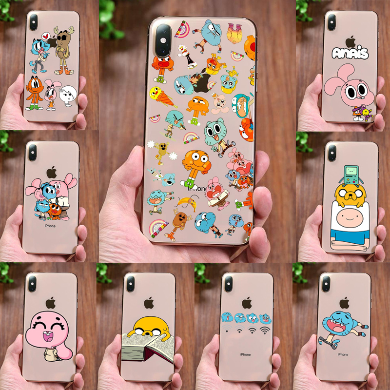 Anime TV The Amazing World of Gumball Soft TPU silicone Phone case For iPhone 11Pro MAX 5 5S 8 7Plus 6 6SPlus X XS Cartoon cover