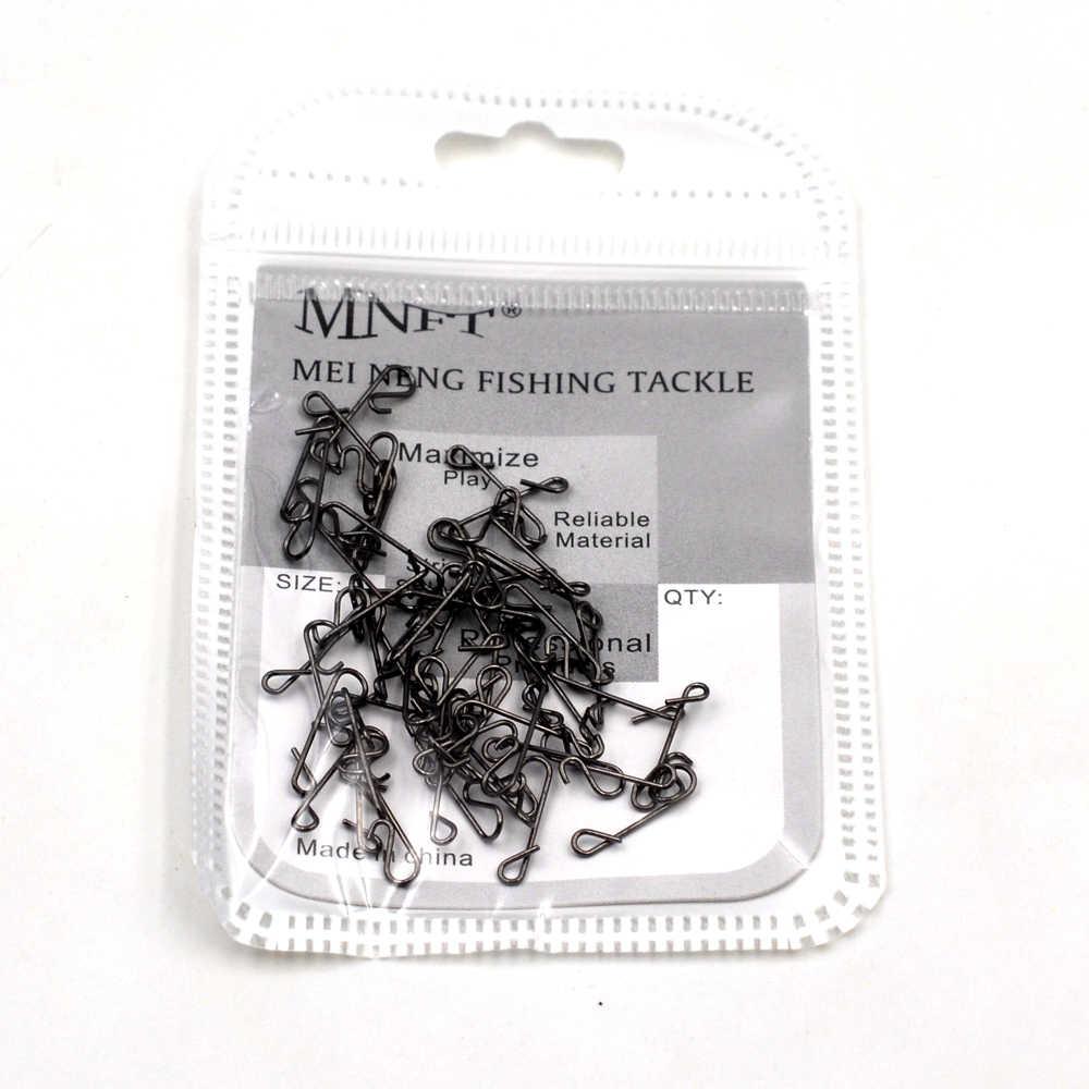 MNFT 300 יח'\חבילה דיג Knotless מחבר X-בטוח ספין, אידיאלי עבור פייק דיג, chasing נורדי גדול אותו, מוט, Zed, שפמנון וכו '.