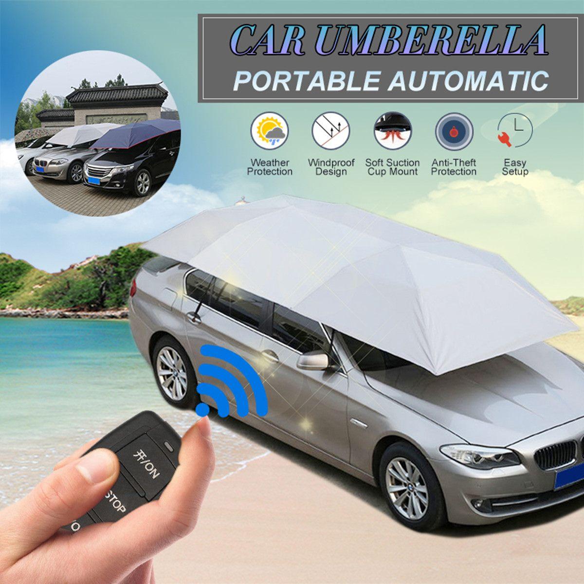 Couverture de toit de voiture extérieure complètement automatique parapluie de tente de véhicule parasol pliable Anti-UV protecteur anti-pluie Kit universel de toit de voiture