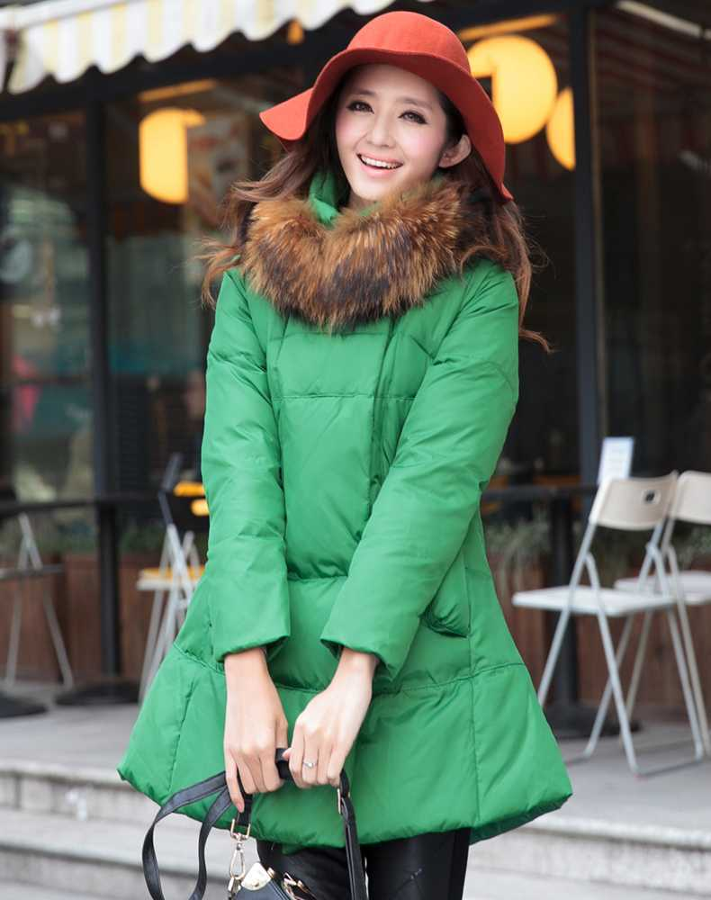 New Arrival Fashion Korean Winter Loose Luxury Fur Collar Hood Thickening Large Size Down Jackets Parka Women Coat H4286 new arrival hotsale 2015 fashion winter warm large fur collar down coat medium long demale thickening outerwear
