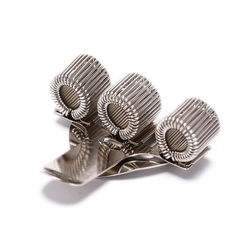 1 Pcs 40*25mm Nurse Uniform Pen Holders Creative Triple Hole Metal Pen Holder With Pocket Clip Doctors Desk Storage