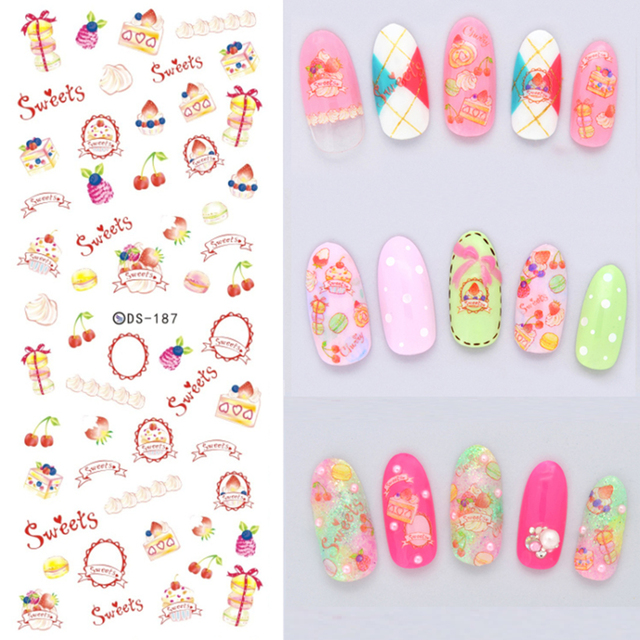 Watermark Nail Stickers Diy Designer Letter Kinds Of Decal Nails Art