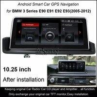 10,25 Touch Android 4,4 автомобиль gps навигация для BMW 3 серии E90 E91 E92 E93 (2005 2012) iDrive левый/правый дополнительно