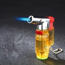 Encendedor de soplete portátil para exteriores, mechero Turbo Jet, butano, pipa cigarro encendedor de espray, pistola de Gas 1300 C a prueba de viento