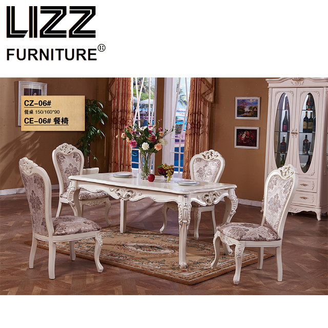 Marble Dining Table Dining Room Furniture Set Royal Furniture Antique Style  Muebels Square Table Chesterfield Leather