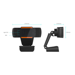 Image 3 - HXSJ 3LED HD webcam 480P PC camera with absorption microphone MIC night vision for Skype PC camera USB webcam