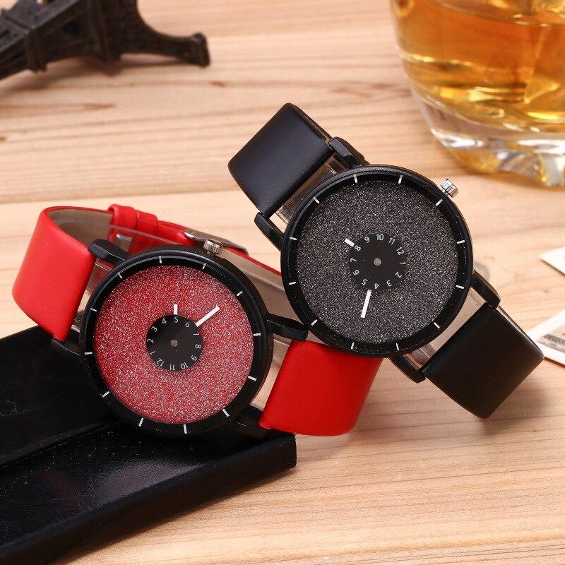 New Design Men Women Quartz Fluorescence Watch Fashion Leather Crystal Watch Ladies Casual Dress Sport WristWatch Reloj Mujer
