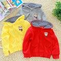 Бесплатная доставка Осень baby boy медведь абзац девушки clothing ребенок с капюшоном пальто верхняя одежда