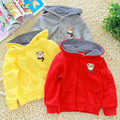 Free shipping Autumn baby boy bear paragraph of girls clothing baby with a hood coat outerwear
