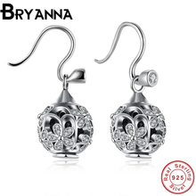 Bryanna vintage femme flower earrings sterling silver jewelry for women earrings fashion jewelry 2016 boucle d'oreille PDRSVE020