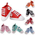 7 Colors 3Sizes Newborn Baby Shoes Unisex Kids Classic Sports Sneakers Bebe Soft Bottom Anti-slip T-tied Shoes