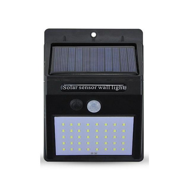A2 Solar luz de la noche de 40 80LED lámpara de jardín Sensor de movimiento se alimentación por energía solar traje de casa al aire libre calle, patio, sendero cerca