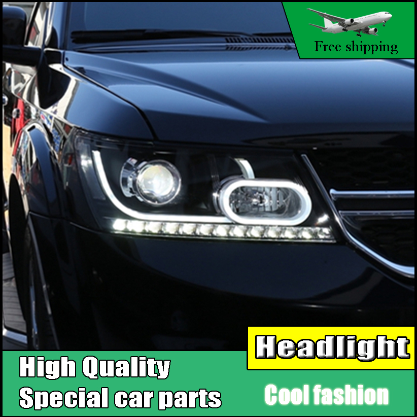 Car Styling Head Lamp For Fiat Freemont Headlights 2008-2016 For Dodge Journey JCUV LED Headlight DRL Lens Double Beam Xenon custom cargo liner car trunk mat carpet interior leather mats pad car styling for dodge journey jc fiat freemont 2009 2017