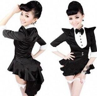 Ensen Magician font b cosplay b font performance swallow tail Girls dress club jazz dance costumes