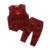 Inverno 2017 2 pcs Bebê Recém-nascido Infantil Meninos Criança Roupas Colete tops + calças outfits define 2-7 t roupas para crianças set 3 cores