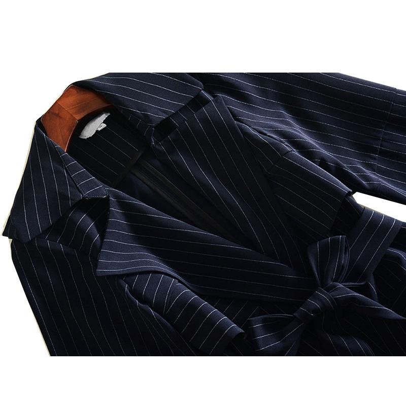 Réglable Noir down Long Nouveau Vêtements Printemps Manches Bulle Bande Windswear 2019 Mode Femme Col Turn Taille Coloration Manteau 6TS67z