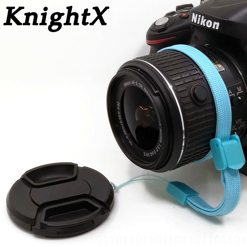 a 58mm Snap On Front Lens Cap For Nikon 55-300mm DSLR Cover W// cap Holder 55-300