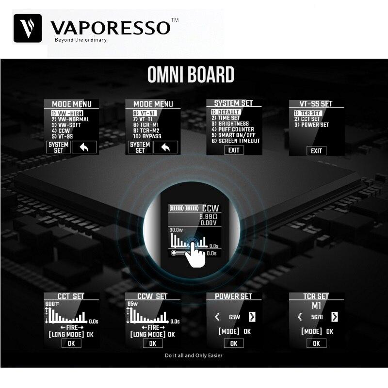 D'origine Vaporesso Vengeur X 220 w TC Boîte Mod Vaporisateur Fit pour NRG Réservoir 18650 Batterie VS Vgod Voopoo Glisser e-Cigarette Vaporisateur Mods - 4