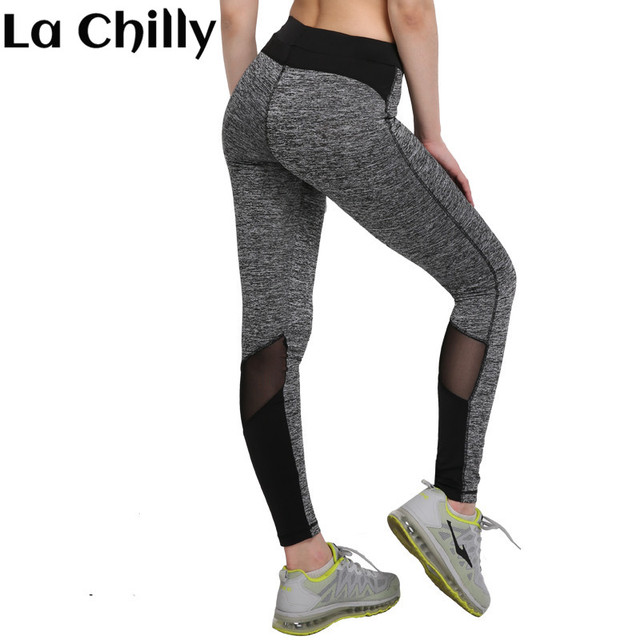 6acbe4d98af13 New Sexy Fashion Plus Size Leggings For Women Black Grey Mesh Workout  Leggings 3024 legging para academia mulheres