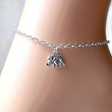 Lucky elephant anklet Silver-plated  foot chain For Female hot jewelry  JK071