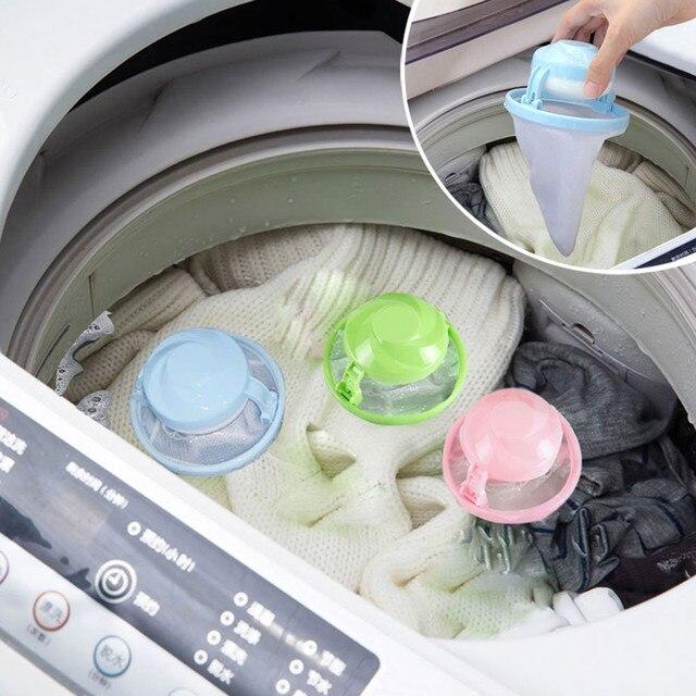 Sacs filtrants 2020, sac filtrant pelucheux pour Machine à laver à domicile, sac filtrant en maille à linge, attrape cheveux et boule flottante