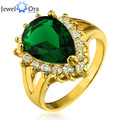 Water Drop Cubic Zirconia Gold Plated Ring Party  Accessories Rings For Womens (JewelOra RI101312)