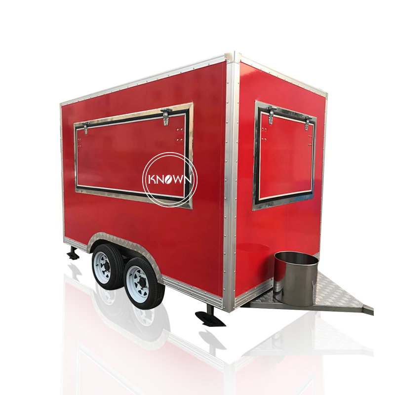Square Shape Mobile Food Cart Hot Dogs Ice Cream Carts For Sale Food Cart On Sale
