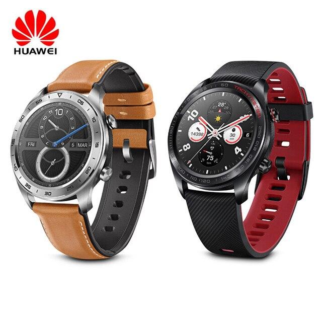 Huawei relógio inteligente mágico com rastreador de fitness, tela colorida de amoled 1.2 hd, bluetooth, gps, monitor de frequência cardíaca para android/ios