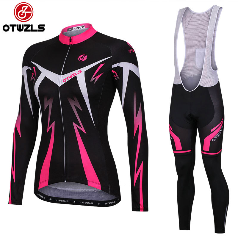 2018 cycling bib set women long sleeve pro cycling clothing jersey and bib pants mountain bike clothing set MTB bicycle wear 3d silicone cube 2012 team long sleeve autumn bib cycling wear clothes bicycle bike riding cycling jerseys bib pants set