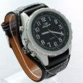 Free Shipping Fashion White Crystal Black Leather Bracelet White Dial Lady Woman Men Watch Quartz Wrist Watch U44 Hot Sale