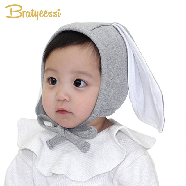 2e54ec0c706 Cute Rabbit Baby Hat Long Ears Newborn Photography Props Kids Cap  Adjustable Cotton Baby Bonnet Cap for Boy Girl Accessory