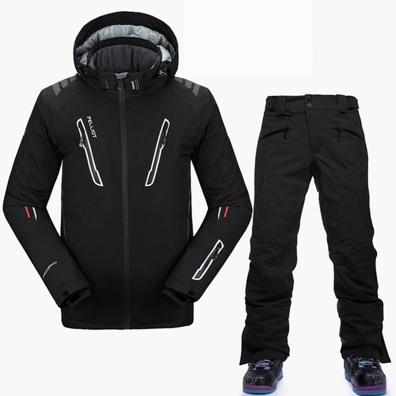 Pelliot -30 Degree Snowboarding Suits Men Top Quality Winter Ski Suit Breathable Waterproof Brand Ski Jacket Snowboard Pant S-XL