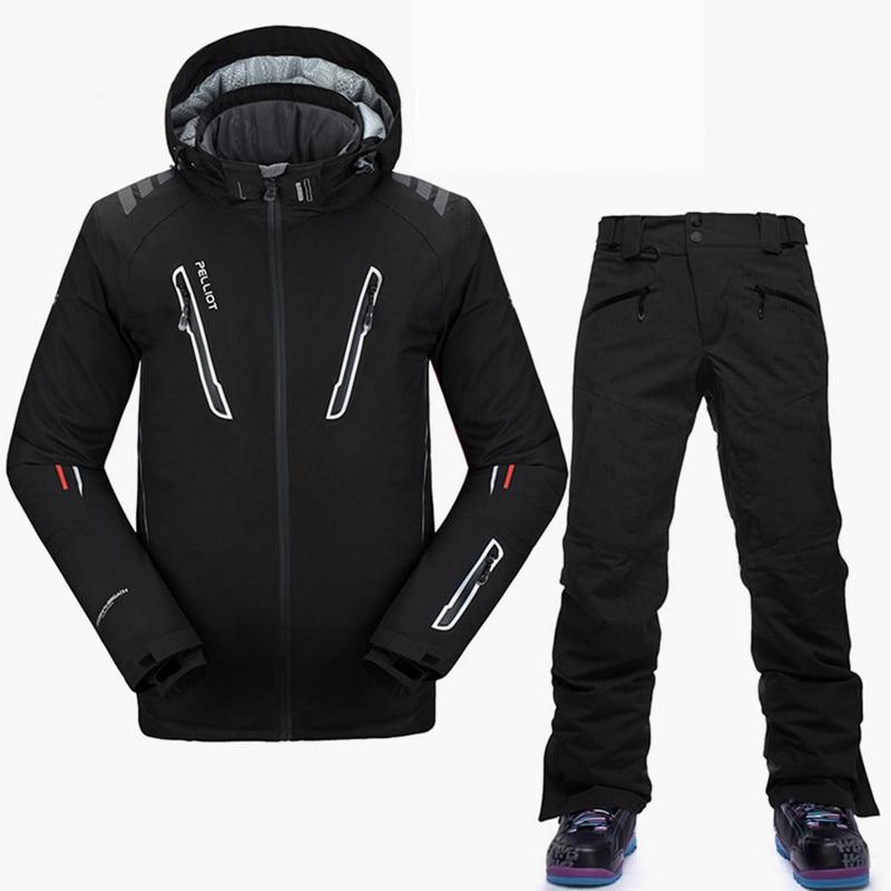 Pelliot-30 degrés Snowboard costumes hommes de haute qualité hiver Ski costume respirant imperméable marque Ski veste Snowboard pantalon S-XL