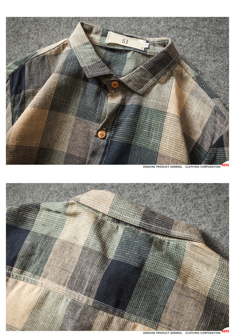 Check Shirts For Men Loose Men Button Up (10)