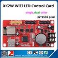 Из светодиодов дисплей wifi платы управления XK2W wi-fi и usb порт поддерживает 32 x 1536 пикселей один цвет p10 из светодиодов доска