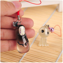 1 piece Ghibli Studio Thousands Away No Face Man Tree Elf Action Doll Toy Doll Hayao Miyazaki Anime Keychain Pendant Model(China)