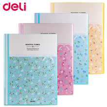 Deli A4 transparent pages file folder presentation 30/40/60/80 colorful cute suspension files