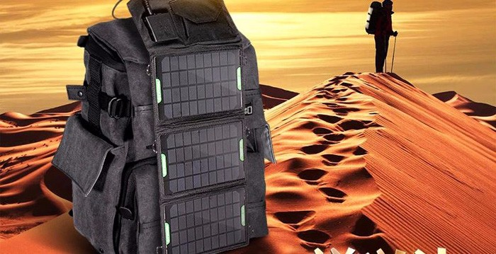Hiking solar panel charger
