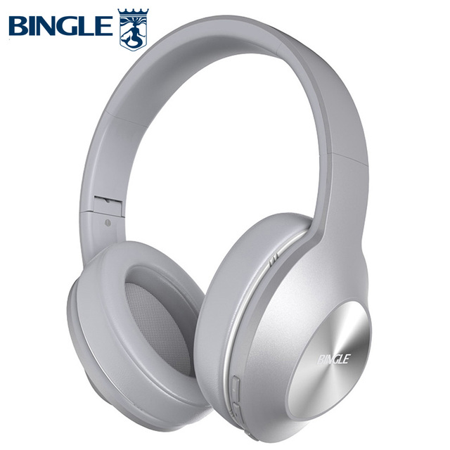 Bingle Q5 Foldable Noise Canceling BT 4.1 Overhead Head Phones Stereo Wireless Bluetooth Headphone Casques For Audio,Studio,TV