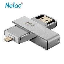 Netac U650 Original OTG Pen Drive USB 3.0 Flash Drive 64 GB Relámpago para el iphone/iPad/iPod de Apple IMF Certificada de Alta calidad