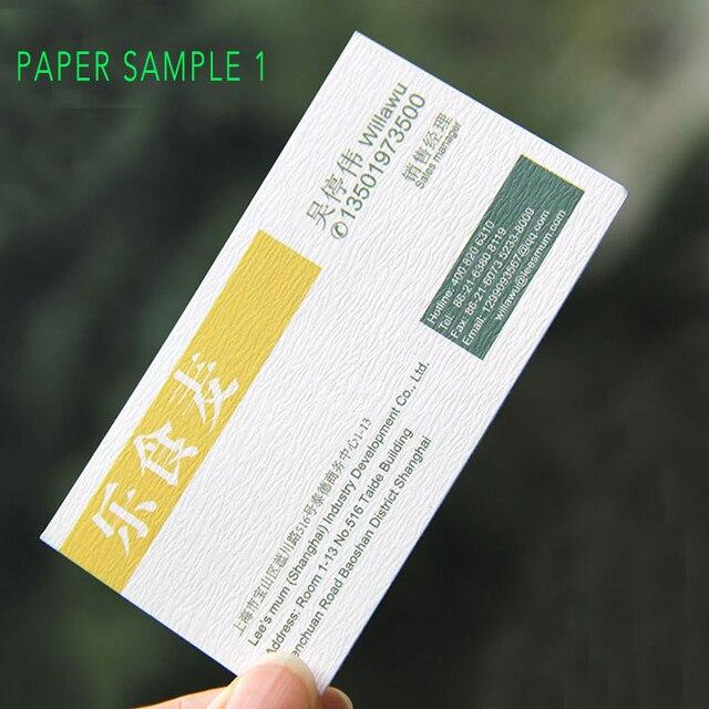 Livraison Gratuite 200 Pcs Special Texture Papier Carte De Visite Impression 280 300gsm Recycle