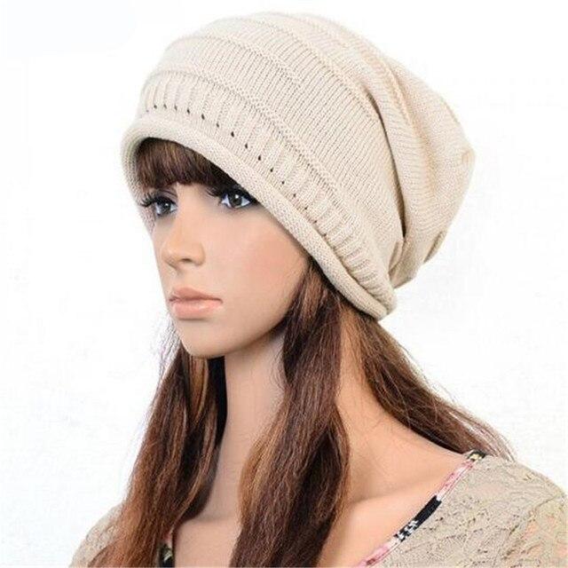 Newest Unisex knitted hat female beret buggy cap oversized winter hat Women  Men Unisex Fashion Accessory c462971c6fb