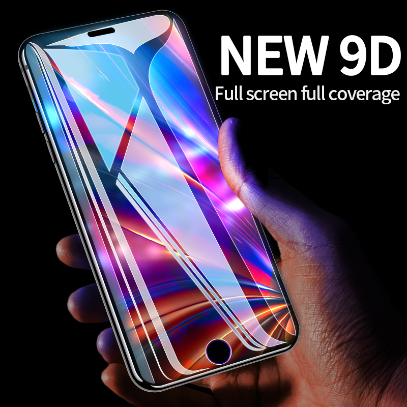Image 2 - Protective Tempered Glass For iPhone X iPhone 7 HD Transparent Full Screen Protector Glass For iPhone 11 Pro MAX 7Plus 8Plus-in Phone Screen Protectors from Cellphones & Telecommunications