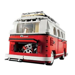 Image 5 - 2020 nova legoinglys 1354 pçs 10220 blocos série técnica volkswagen t1 camper van modelo kits de construção conjunto tijolos brinquedos 21001