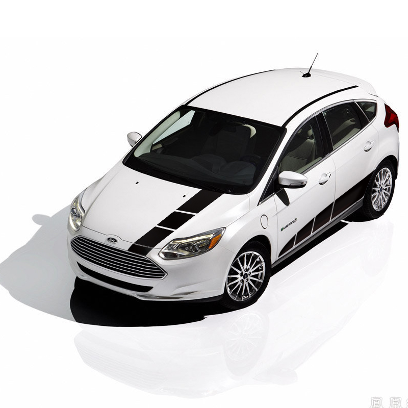 The whole body car styling Parallel to the body stick,sporty stripes garland car stickers ,car sticker for Ford Fiesta car styling quality vinyl decal sticker cool racing sport stripes car stickers on the whole body car accessories for toyota reiz