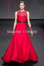 Sexy Lady Schöne New Fashion Design eine Linie red vintage Perlen Wunderschöne Neueste Elegante Abendkleider