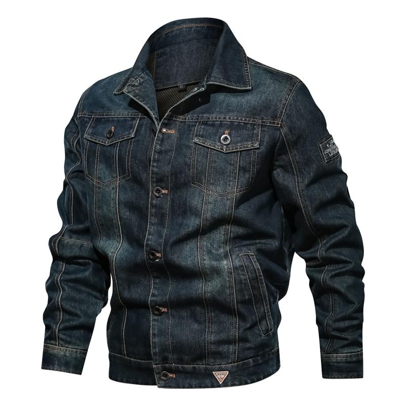 Plus rozmiar 6XL męska kurtka dżinsowa jesień zima Retro płaszcz mężczyzna wojskowe dżinsy wojskowe kurtka Bomber mężczyźni znosić kowboj odzież w Kurtki od Odzież męska na AliExpress - 11.11_Double 11Singles' Day 1