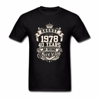 Mens Costume August 1978 40 Years Of Being Aweso Mens T Shirt Big Size Top Tees